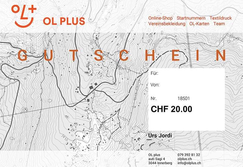OL plus sFr. 20.00 Geschenkgutschein