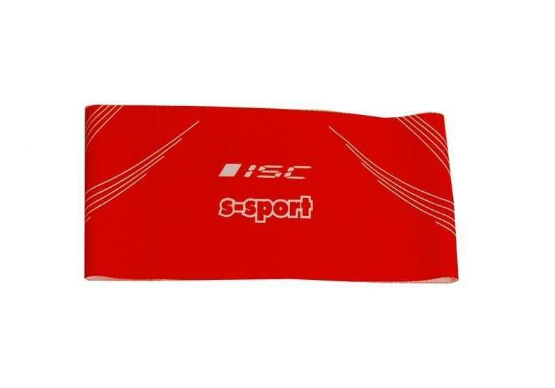 ISC Stirnband rot<br>Breite 9.5cm
