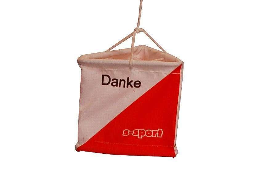 OL Postenflagge 6/6 cm <br/> Danke Merci Grazie