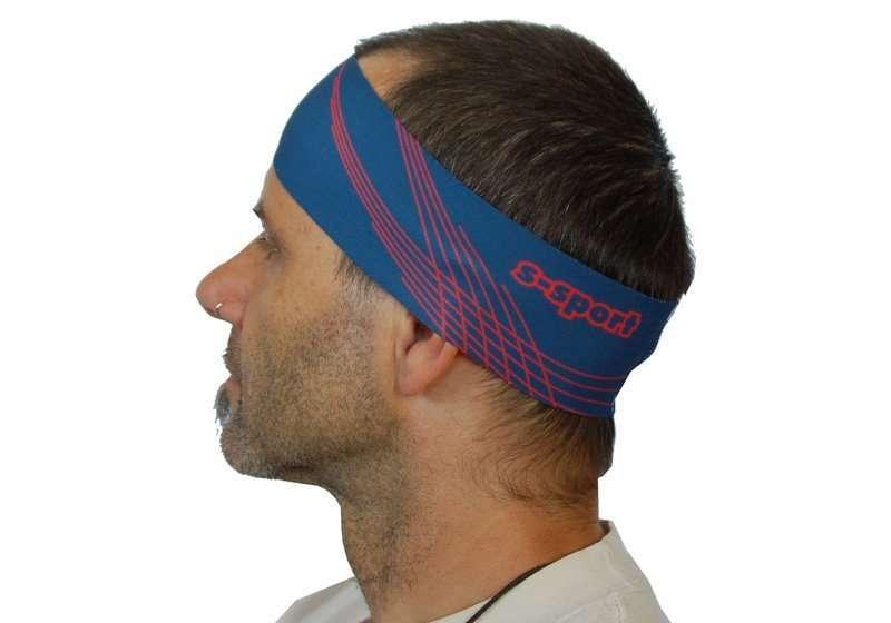 ISC Stirnband blau <br/> Breite 6.5cm Copy